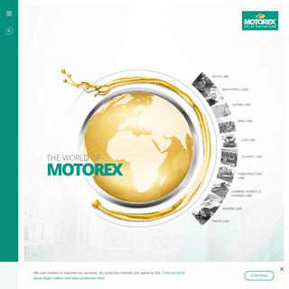 Lubricants from MOTOREX - Oil of Switzerland - MOTOREX