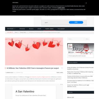ArchiveBay.com - www.dropnews.it/2020/02/13/14-febbraio-san-valentino-2020-frasi-e-immagini-damore-per-auguri/ - 14 febbraio, San Valentino 2020- frasi e immagini d'amore per auguri