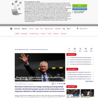ArchiveBay.com - www.nu.nl/voetbal/6031387/manchester-united-icoon-en-held-van-munchen-harry-gregg-87-overleden.html - Manchester United-icoon en 'Held van München' Harry Gregg (87) overleden - NU - Het laatste nieuws het eerst op NU.nl
