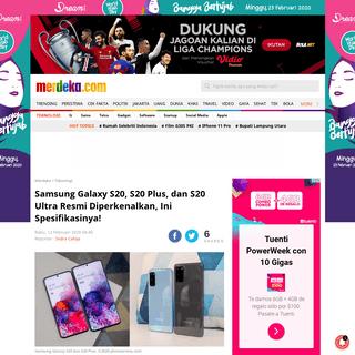 Samsung Galaxy S20, S20 Plus, dan S20 Ultra Resmi Diperkenalkan, Ini Spesifikasinya! - merdeka.com