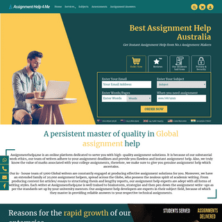 Assignment Help - High Quality Assignment Help in Australia ($10-Page)