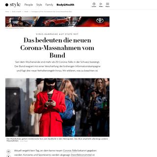 Kampagne auf Rot- Das bedeuten die Corona-Massnahmen BAG - Schweizer Illustrierte