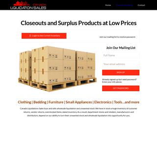 Wholesale Liquidation - Canada Liquidation Sales - Buy and Sell Stocks