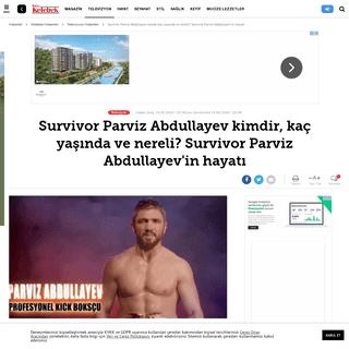 ArchiveBay.com - www.hurriyet.com.tr/kelebek/televizyon/survivor-parviz-abdullayev-kimdir-kac-yasinda-ve-nereli-survivor-parviz-abdullayevin-hayati-41448547 - Survivor Parviz Abdullayev kimdir, kaç yaşında ve nereli- Survivor Parviz Abdullayev'in hayatı - Televizyon Haberleri