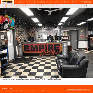 ArchiveBay.com - empireabbotsford.com - Auto Recycler, Auto Wrecker, Auto Parts Yard, Used Auto Parts - Empire Abbotsford