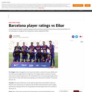 Barcelona player ratings vs Eibar - AS.com