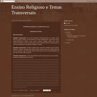 Ensino Religioso e Temas Transversais