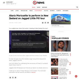 ArchiveBay.com - www.tvnz.co.nz/one-news/entertainment/alanis-morissette-perform-in-new-zealand-jagged-little-pill-tour - Alanis Morissette to perform in New Zealand on Jagged Little Pill tour - 1 NEWS - TVNZ