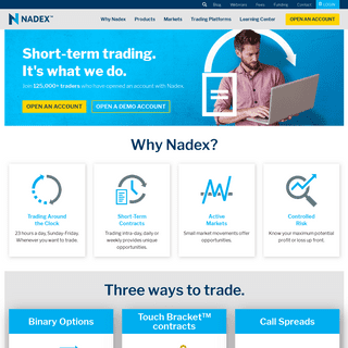 Binary Options - Online Trading platform on Forex, Indices, Commodities - Nadex