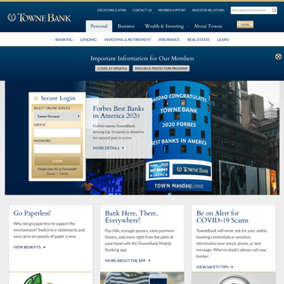 TowneBank - Personal and Business Banking, Investments, Mortgages
