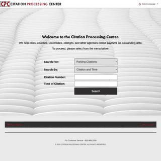 Citation Processing Center - Parking and Administrative Citations