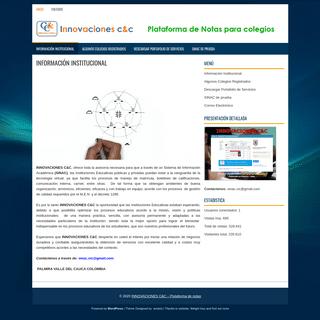INNOVACIONES C&C – Plataforma de notas – Sistema de información académica - Plataforma de notas - Sistema de calificacione