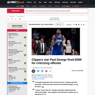 ArchiveBay.com - nba.nbcsports.com/2020/02/13/clippers-star-paul-george-fined-35k-for-criticizing-officials/ - Clippers star Paul George fined $35K for criticizing officials