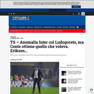 TS - Anomalia Inter col Ludogorets, ma Conte ottiene quello che voleva