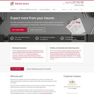 Professional Indemnity Insurance & Liability Insurance - Markel Direct UK