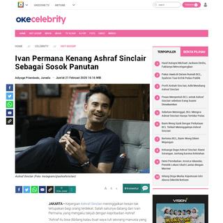 Ivan Permana Kenang Ashraf Sinclair Sebagai Sosok Panutan - Okezone Celebrity