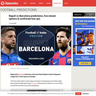Napoli v Barcelona prediction, live stream, team news - Champions League