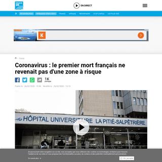 Coronavirus- le premier mort français ne revenait pas d'une zone à risque