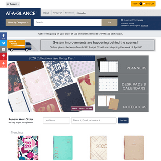 Daily Planners, Monthly Calendars, & Address Books - AT-A-GLANCE