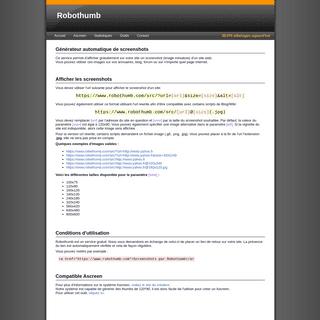 Robothumb - Générateur automatique de screenshots de site web