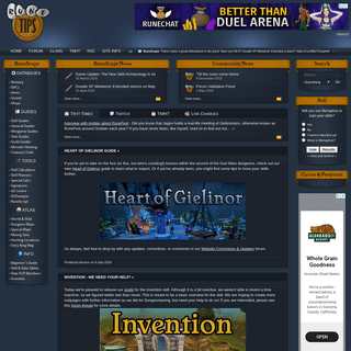 Tip.It RuneScape Help -- The Original RuneScape Help Site!