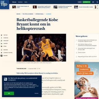 Basketballegende Kobe Bryant komt om in helikoptercrash - De Tijd