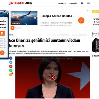 Ece Üner- 33 şehidimizi unutanın vicdanı kurusun - Internet Haber