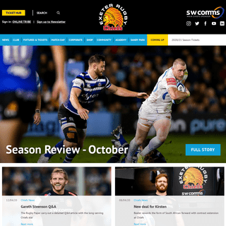 Exeter Chiefs - Home of Exeter's Premier Rugby Club