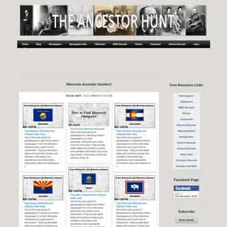 The Ancestor Hunt - Home