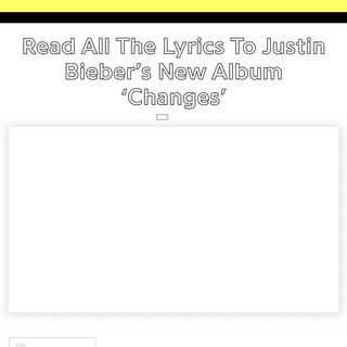 Stream & Read All The Lyrics To Justin Bieber's New Album 'Changes' - Genius