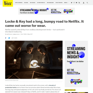 Locke & Key had a bumpy road to Netflix. It came out worse for wear. - Vox