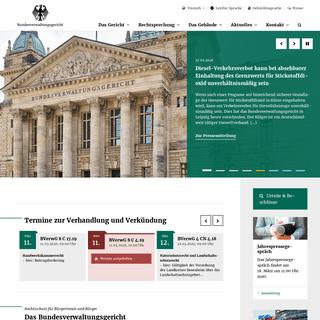 ArchiveBay.com - bverwg.de - Startseite - Bundesverwaltungsgericht