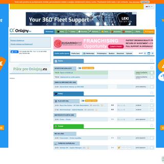 Onlajny.eu - online prenosy športových stretnutí