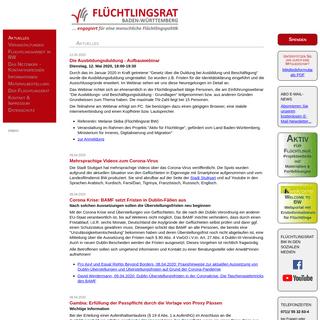Flüchtlingsrat Baden-Württemberg e.V. - Flüchtlingsrat Baden-Württemberg