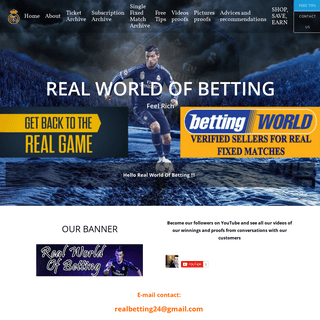 Real fixed matches, real fixed match, real sources fixed matches, real tips