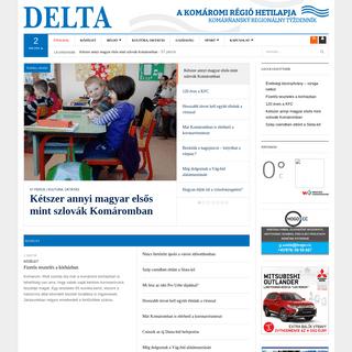 Delta - A Komáromi régió hetilapja - Komárňanský regionálny týždenník