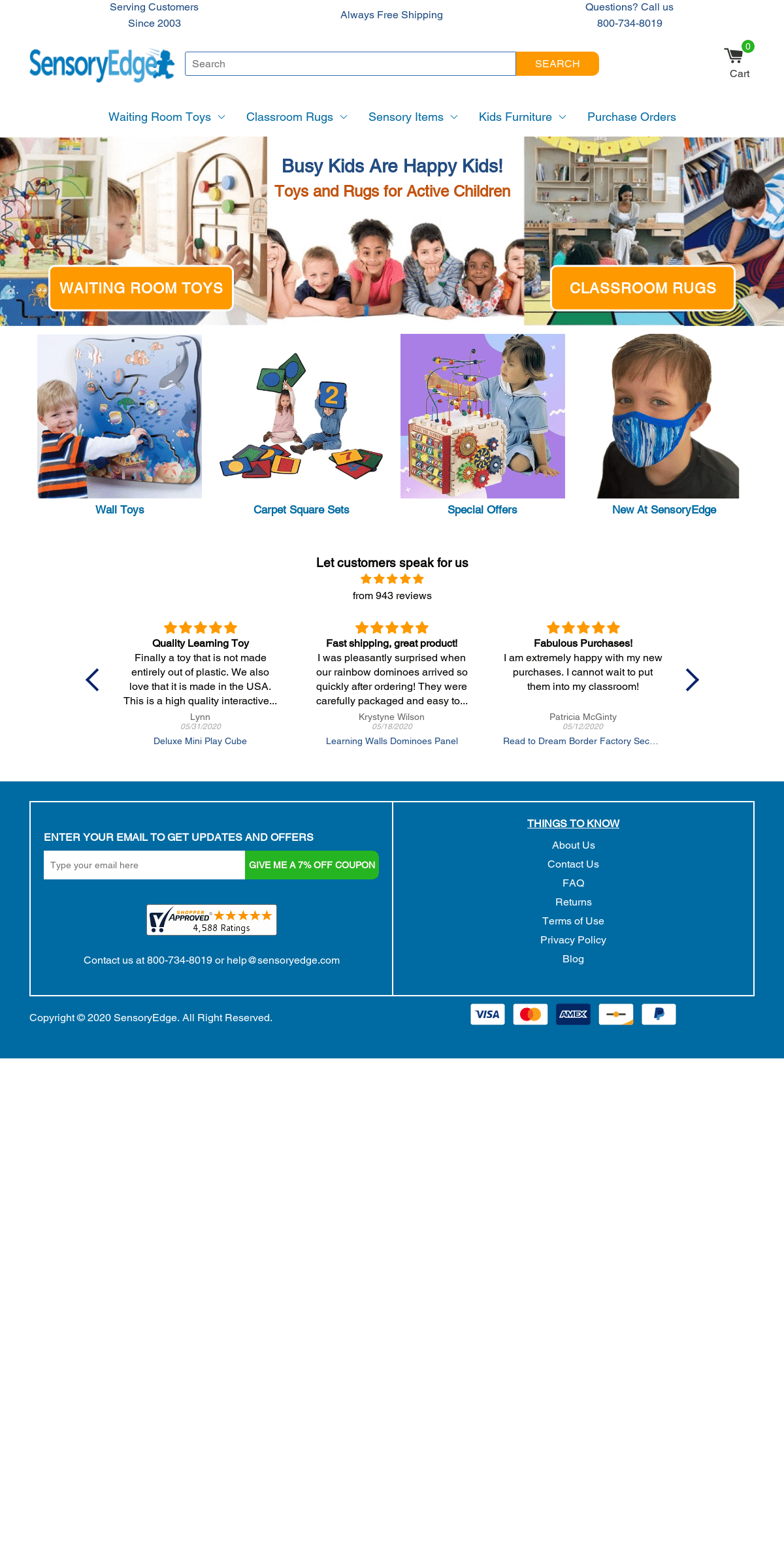 Buy Waiting Room Toys and Classroom Rugs - SensoryEdge