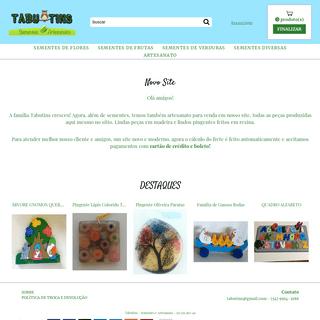 ArchiveBay.com - tabutinssementes.com.br - Tabutins - Sementes e Artesanato - Home