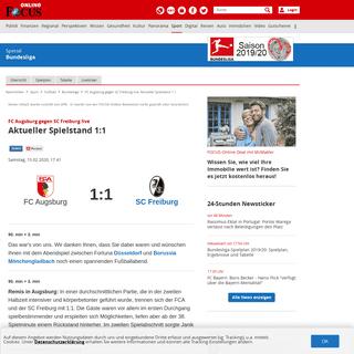 ArchiveBay.com - www.focus.de/sport/fussball/bundesliga1/fc-augsburg-gegen-sc-freiburg-live-vorbericht_id_11668803.html - FC Augsburg gegen SC Freiburg live- Aktueller Spielstand 1-1 - FOCUS Online