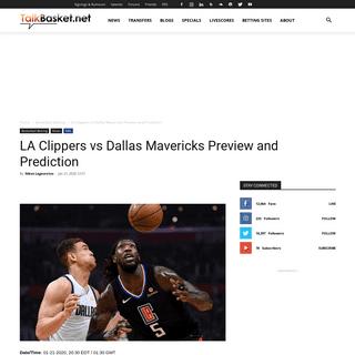 LA Clippers vs Dallas Mavericks Preview and Prediction - TalkBasket.net