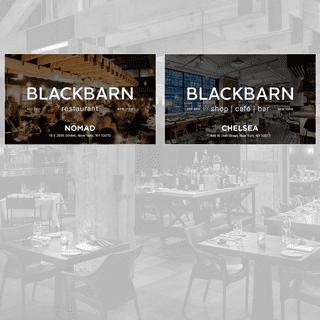 BLACKBARN - Farm-to-Table American Cuisine in NoMad & Chelsea Market NYC