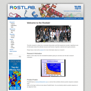 Welcome to the Rostlab! - ROSTLAB.ORG