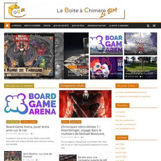 ArchiveBay.com - laboiteachimere.com - La Boite à Chimère - Association parisienne de jeux de société et de jeux de rôle
