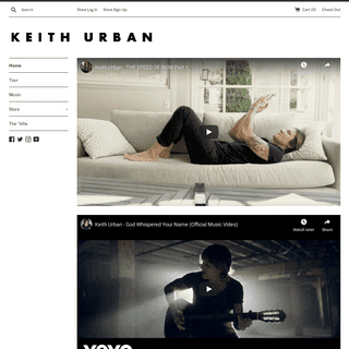 Keith Urban – Keith Urban Store