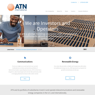 Communications & Renewable Energy Investments- Investment Firm - ATN