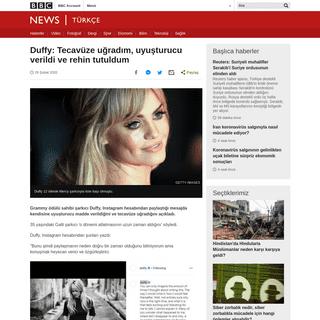 Duffy- Tecavüze uğradım, uyuşturucu verildi ve rehin tutuldum - BBC News Türkçe