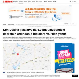 Son dakika - Malatya'da korkutan deprem! 5 ilde hissedildi - Son depremler - Son Dakika
