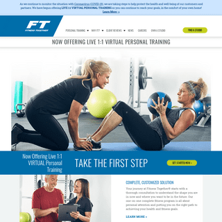 Personal Training Program Franchise Customized by Fitness Together