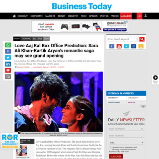Love Aaj Kal Box Office Prediction- Sara Ali Khan-Kartik Aryan's romantic saga may see grand opening