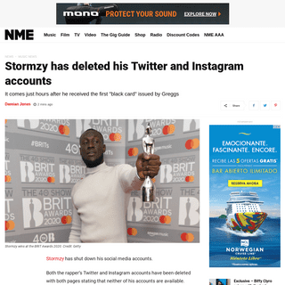 ArchiveBay.com - www.nme.com/news/music/stormzy-has-deleted-his-twitter-and-instagram-accounts-2612817 - Stormzy has deleted his Twitter and Instagram accounts